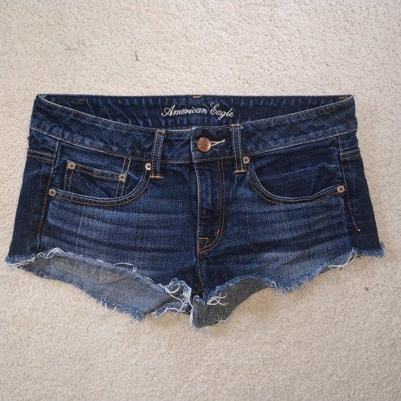 American Eagle women's distressed jean shorts
